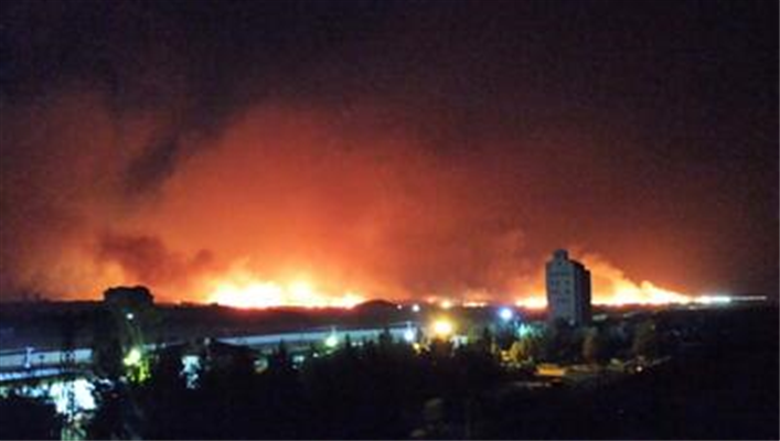 Suriye'de 3 farklı ilde yangın çıktı